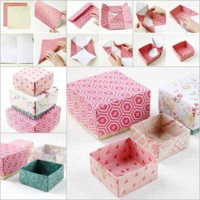 折り紙の箱を折りながら子連れでおでかけ