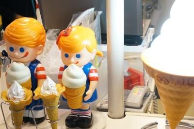 東京のキッザニア・ソフトクリームショップパビリオンの画像