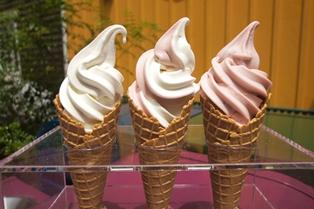 ジブリ美術館麦わらぼうしカフェソフトクリームの画像