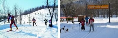 札幌、子どもと遊ぶ、そり遊び、歩くスキーの画像