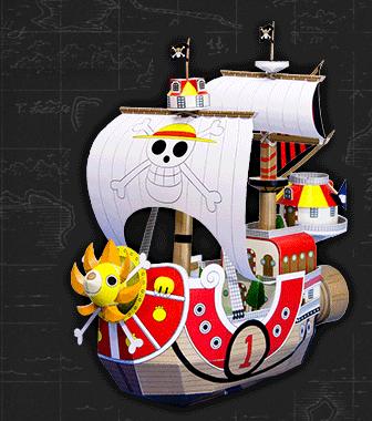 キャラクター、ペーパークラフト、船の画像