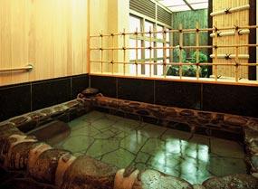 城崎温泉の錦水旅館の貸切風呂