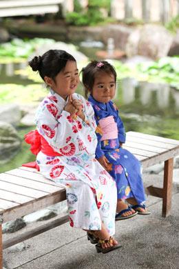 城崎温泉で子どもと浴衣を着ておでかけ