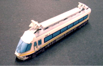 ペーパークラフト、がんがん、電車、模型、アーバンライナーの画像