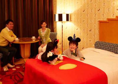 ディズニーホテルで誕生日のホテル画像