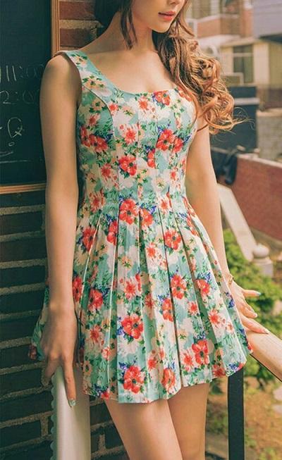 花柄、おしゃれママ、春、流行、花柄の画像