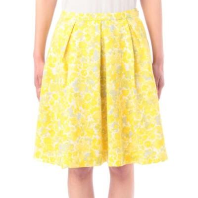 花柄、おしゃれママ、春、流行、黄色のスカートの画像