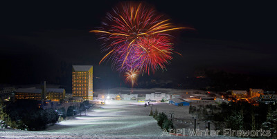 バレンタインに行きたい安比高原スキー場の冬花火