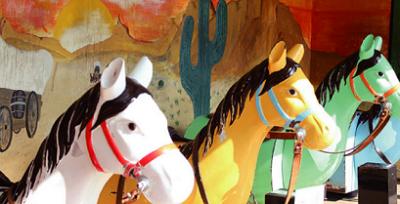 遊園地、日本一、ウルトラ、レトロ、安い、るなぱあく、木馬の画像