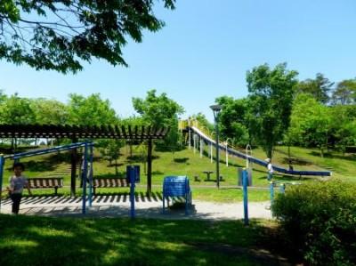 長い滑り台もある印西市萩原公園の画像