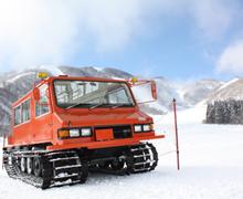 ファミリースキー場おすすめ雪上車の画像