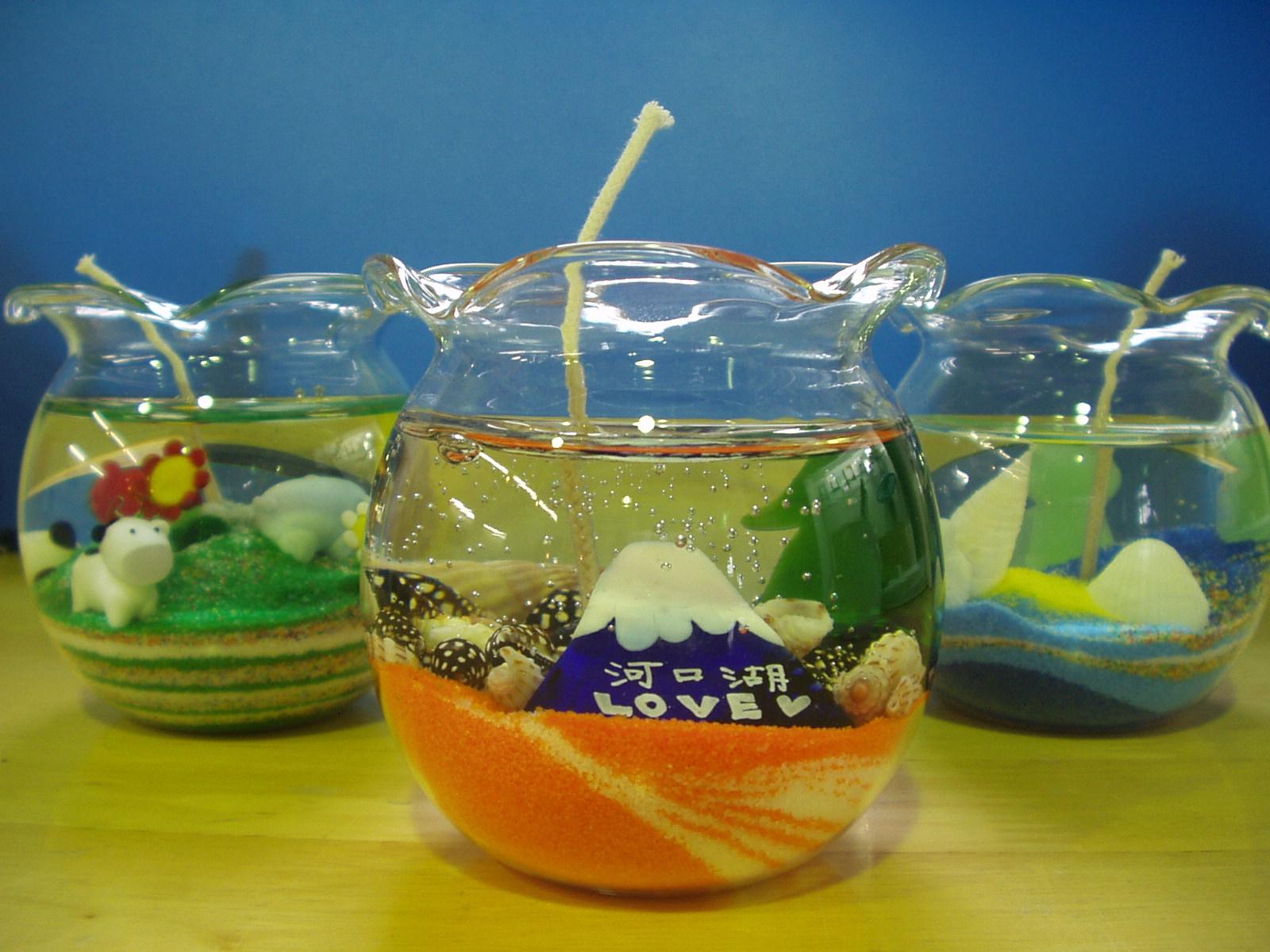 ガラス工芸体験ジェルキャンドルの画像