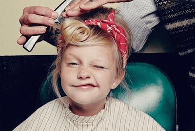 キッズ美容室、美容室デビュー、女の子の画像