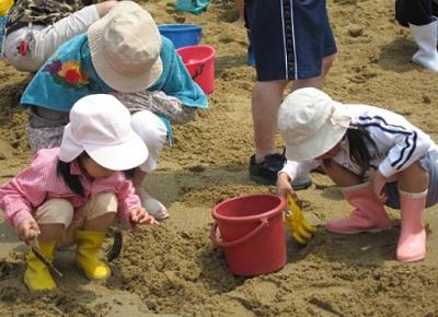 長崎潮干狩り千里ヶ浜の画像