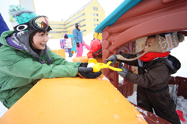ファミリースキー場おすすめ雪遊びの画像