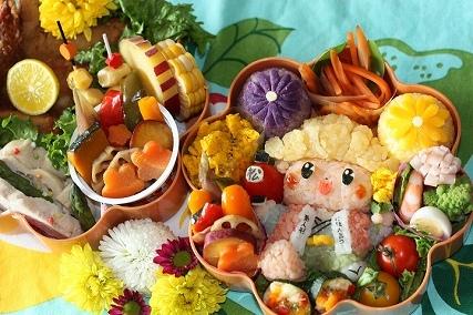 行楽お弁当キャラ弁作り方菊松の画像