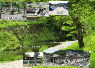 東京八王子市の北浅川恩方ます釣場の釣り堀の画像