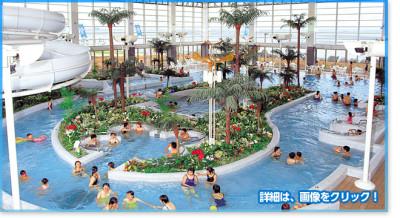 室内プールの千葉龍宮城スパ ホテル三日月の画像