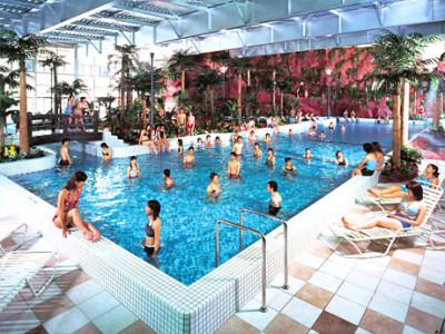 室内プールの千葉鴨川スパ ホテル三日月 トロピカルガーデンの画像