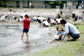 神奈川県の潮干狩り_海の公園の画像