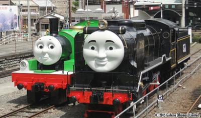 SL、大井川鉄道、パーシーとヒロの画像