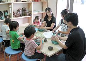 親子教室陶芸の画像