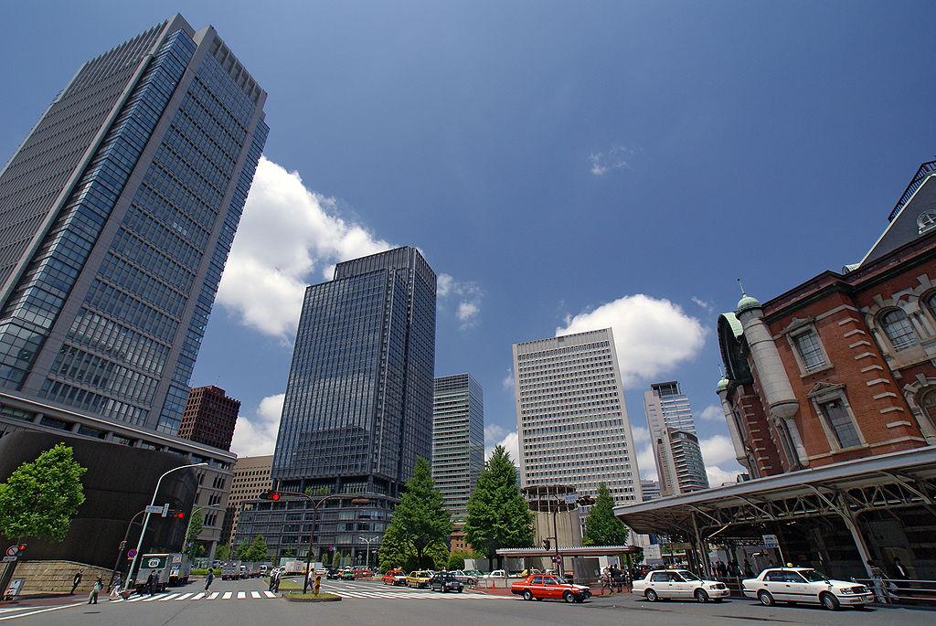 東京駅丸の内側から撮影した画像