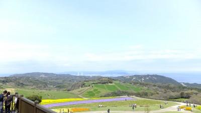 淡路島で子どもが絶景を楽しめる遊び場のあわじ花さじきの画像