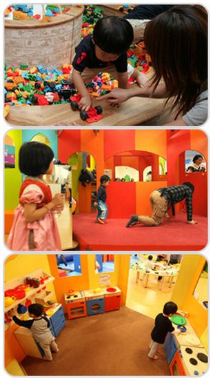 子どもが雨でも遊びを楽しめる室内プレイグラウンドの画像
