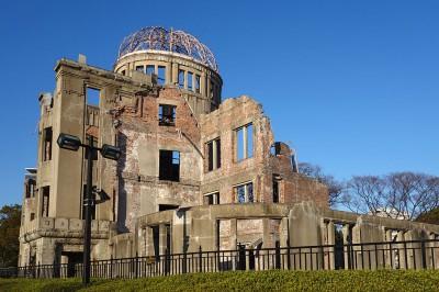 国内の世界遺産、広島の原爆ドームの画像