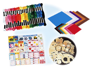 幼稚園の手作りに必要な材料の画像