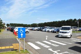 辻堂海浜公園のプールに行くには車が便利、駐車場の画像
