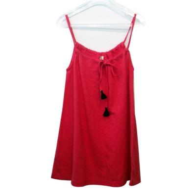 okutoの子供服赤いワンピースの画像