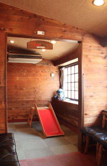 登戸のピザレストランのキッズスペースの画像