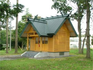 駒里神社新築工事 外観  工事概要:北海道千歳市駒里 木造平屋 17.39㎡
