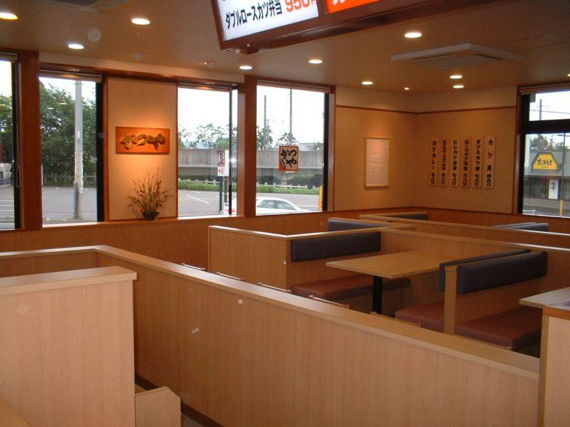 かつや千歳店新築工事 内部完成風景  工事概要:北海道千歳市北栄 木造平屋 130.42㎡