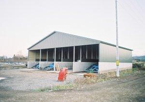 細川牧場新築 バンカーサイロ  工事概要:北海道八雲町緑町 細川牧場 バンカーサイロ新築 504㎡