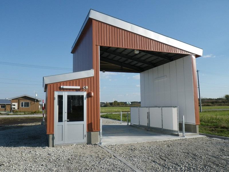 元野幌家畜飼育施設 車両消毒設備設置工事