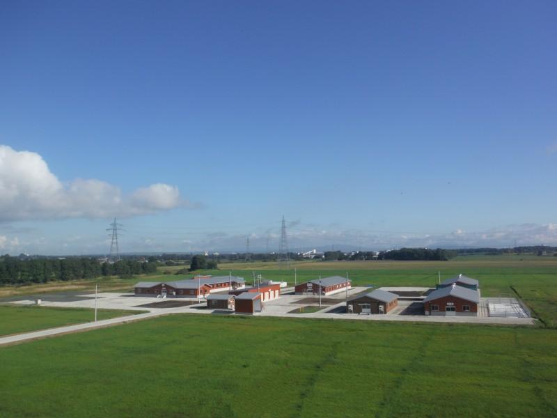 酪農学園フィールド教育研究センター元野幌家畜飼育施設新築工事 全景