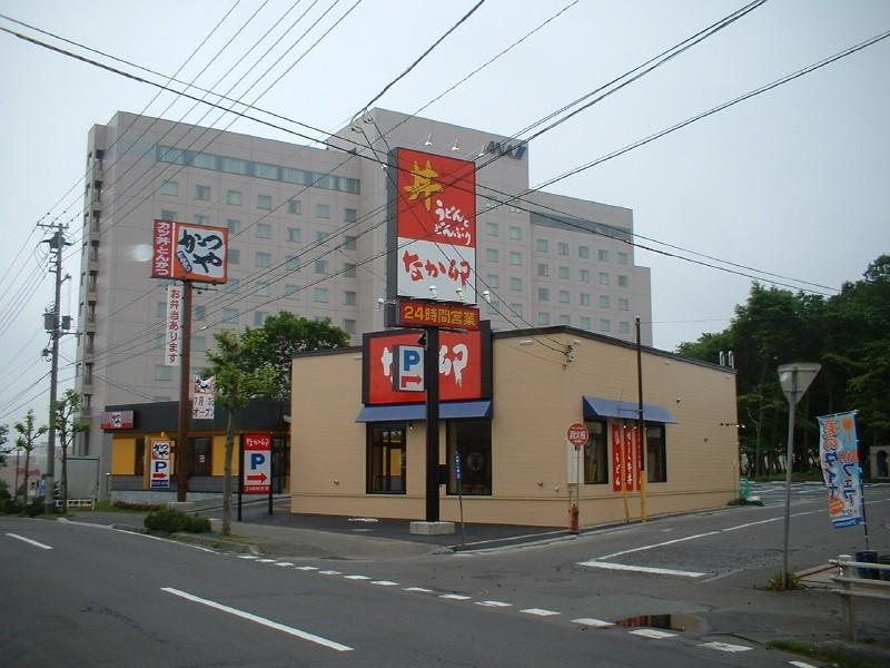 なか卯千歳店新築工事 外観  工事概要:北海道千歳市北栄 木造平屋 132.075㎡