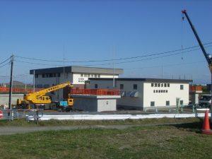 石狩川改修工事の内-厚別排水機場上屋増築