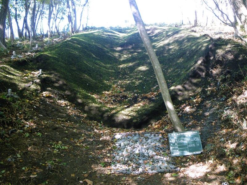 24.北千歳駐屯地急傾斜地対策工事その1 地下壕充填完了風景  工事概要:北海道千歳市 地下壕埋立 1箇所