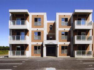 池谷マンションⅡ新築工事 外観  工事概要:北海道千歳市清流 鉄筋コンクリート造3階建 498.97㎡