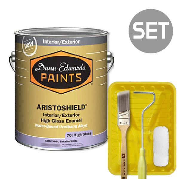아리스토쉴드 철제&금속용 고광 1L + 페인팅 도구세트 4인치