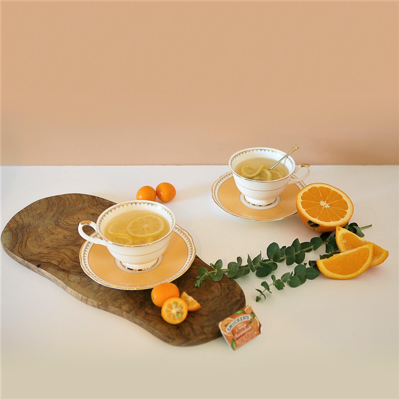 로얄스위트오렌지 커피세트 4p