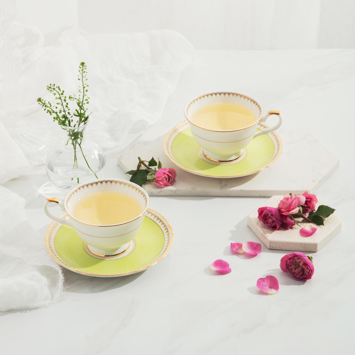 로얄애플그린 커피세트 4p