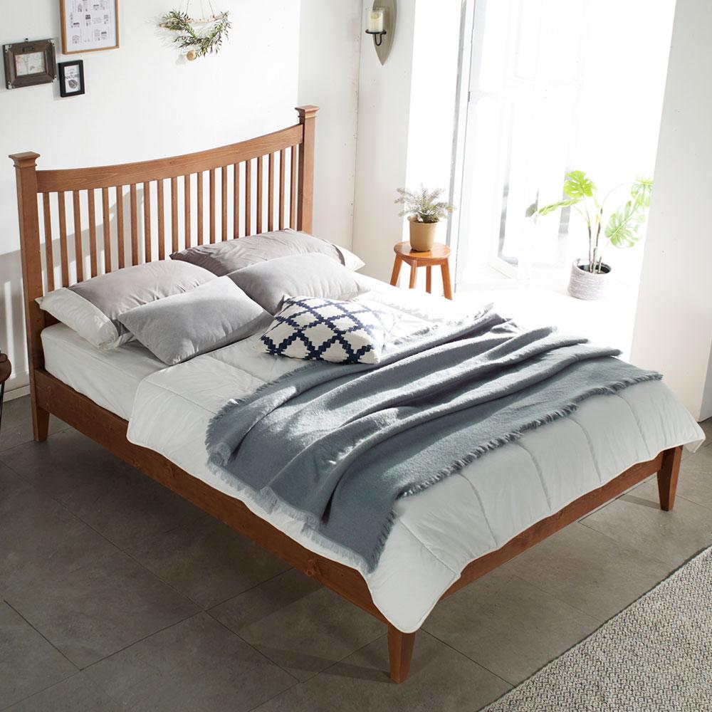 도브 원목 퀸 북유럽 침대+헤이븐유로탑매트리스
