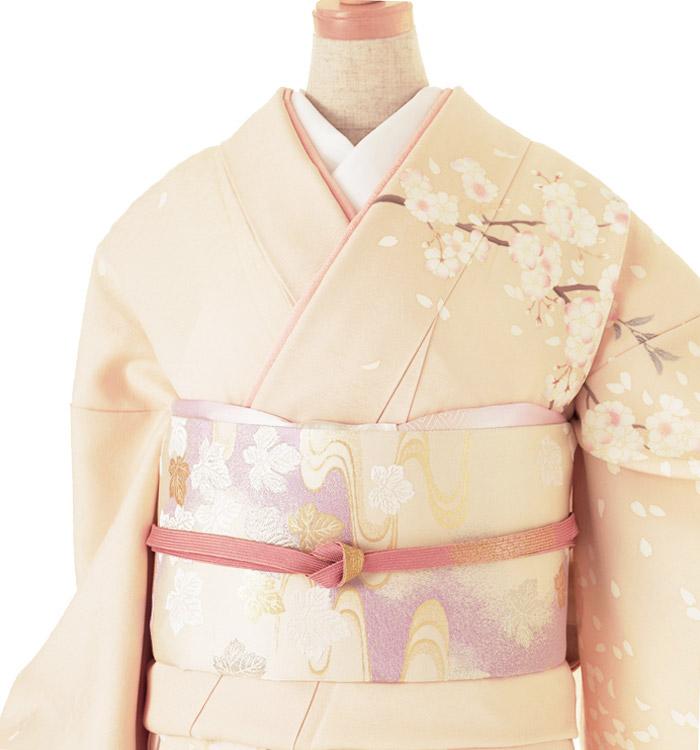季節の着物「八重桜」 京友禅 訪問着 No.AA-0258-Lサイズ_01