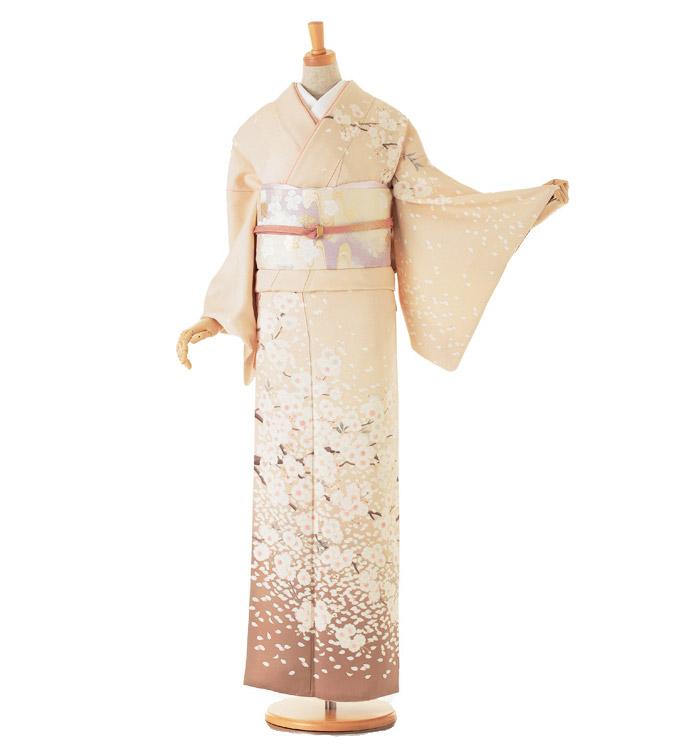 季節の着物「八重桜」 京友禅 訪問着 No.AA-0258-Lサイズ