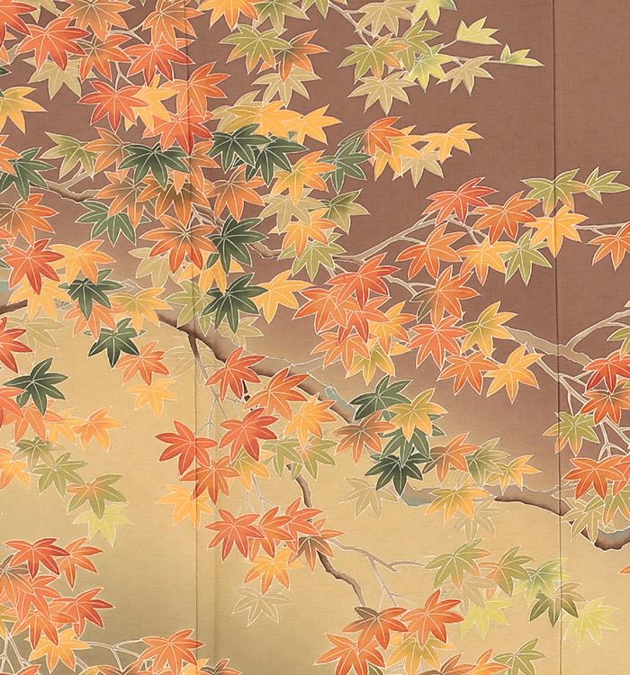 季節の着物「紅葉」 京友禅 訪問着 No.AA-0259-Lサイズ_05